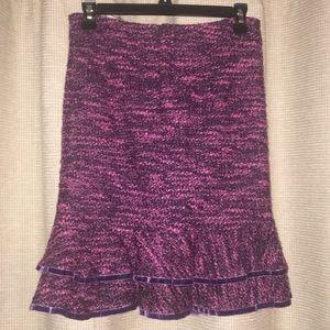 Pink and purple tweed skirt